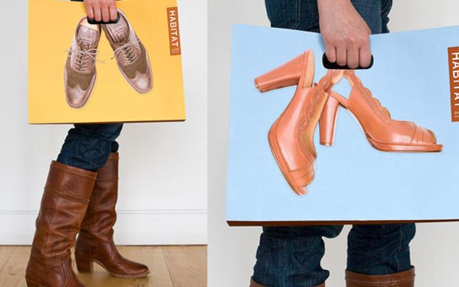 En yaratıcı tasarıma sahip alışveriş poşetleri