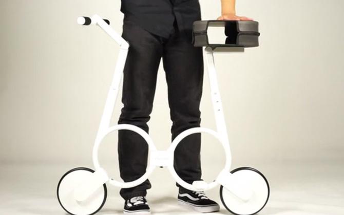 Bu bisiklet, çantanıza sığabiliyor!