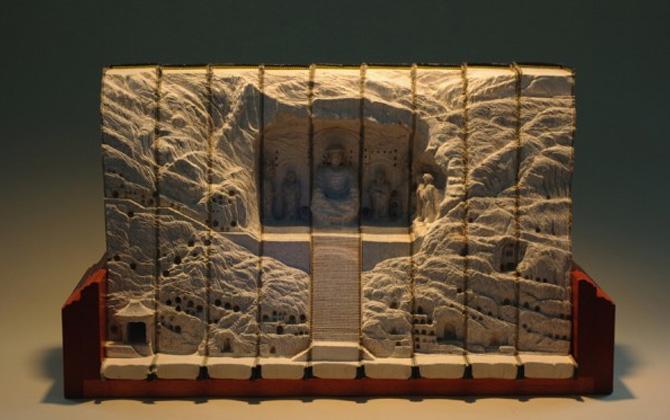 Eskimiş kitaplardan ilginç sanat eserleri oluşursa!