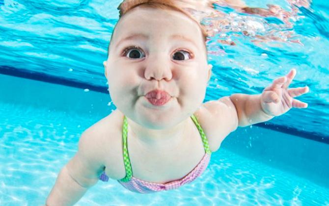 Bebeklerin en sevimli sualtı fotoğrafları