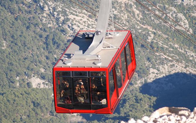 Antalya'da teleferiğe nerelerde binilir?