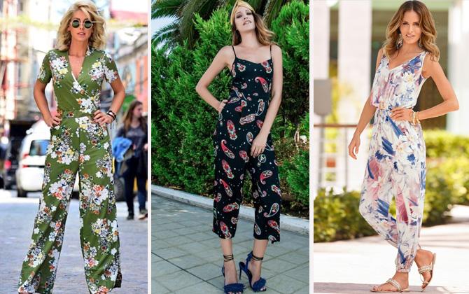 Bu yazın trend kıyafeti; çiçekli tulumlar!