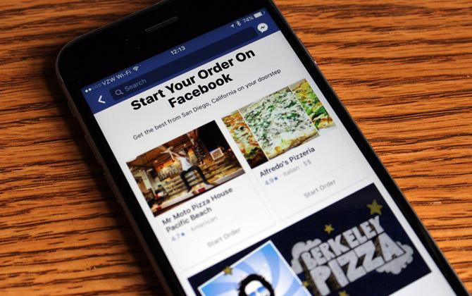 Artık Facebook üzerinden yemek siparişi verilebilecek!