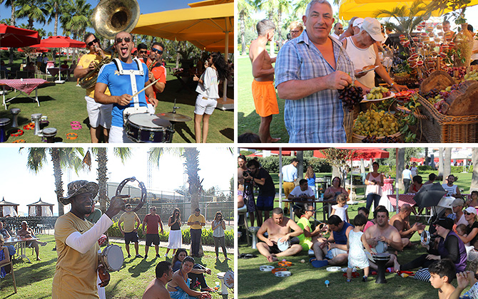 IC Hotels Santai'de düzenlenen Üzüm Festivali tatilcilerden yoğun ilgi gördü!