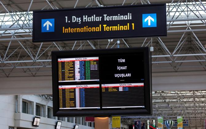 Antalya Havalimanı 1.Dış Hatlar Terminali 12 Ekim 2017 itibariyle bakıma alınıyor!