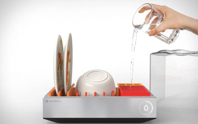 Daha önce böyle minik bir bulaşık makinesi gördünüz mü?