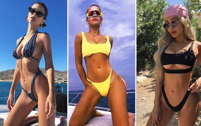 Bu yaz plajlarda sıkça göreceğimiz ilginç mayo ve bikini modelleri!